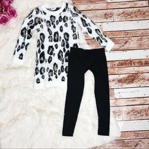 Little Girl's Sweater Dress and Leggings