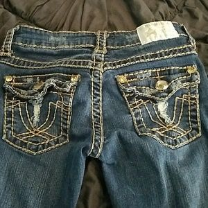 L. A. idol Jeans - Destroyed Capri jeans