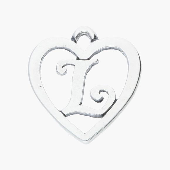 James Avery Sterling Letter L Heart Charm
