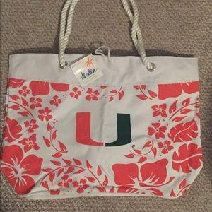 Handbags - UM (University of Miami) beach bag/ tote/ purse