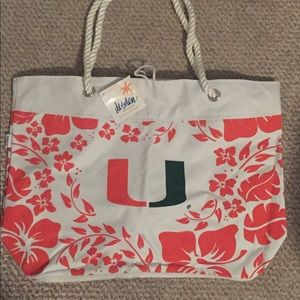UM (University of Miami) beach bag/ tote/ purse