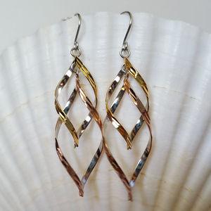 Giani Bernini Two-Tone Layer Drop Earrings