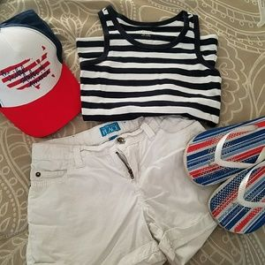 Tank and shorts outfit
