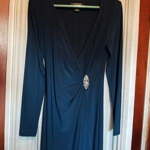 Blue-Green Ballgown