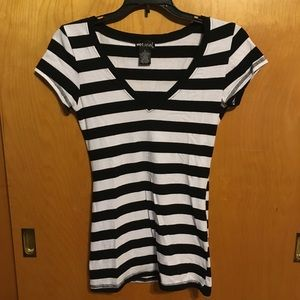 FREE WITH ANY PURCHASE Black & White Striped Shirt