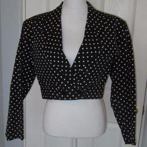Black and White Polkadot short jacket - size 6