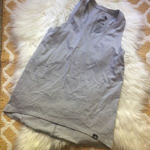 gray women's north face tank top size S