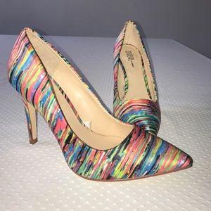 NWOT Multi Colored Pointed Toe Heels