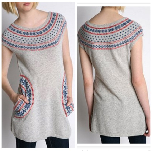 49% off Urban Outfitters Sweaters - U.O. Tikirani Fair Isle Tunic ...