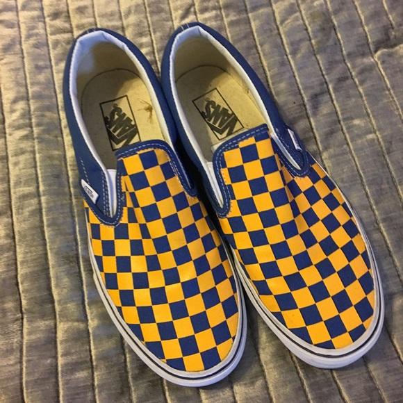 c5fb17964293cd Vans checkered blue and yellow. M 59cc2394c2845651c500856c