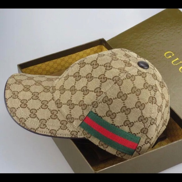 Gucci Accessories - Gucci Brown canvas baseball Hat Cap 4323c4537b7