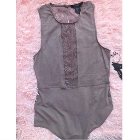 037bb0983  Tahari  bodysuit sleepwear Lingerie sheer open M