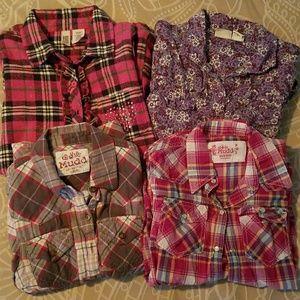 Four button-down shirts