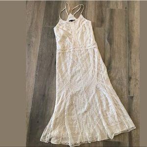 Victoria's Secret Ivory lace & crochet dress Sz 0