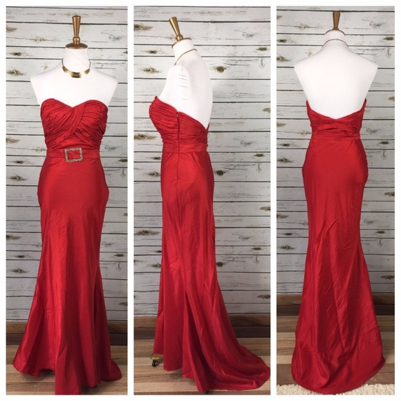 Gigi New York Dresses Gigi Size 4 Red Dress Fitted Formal Jessica