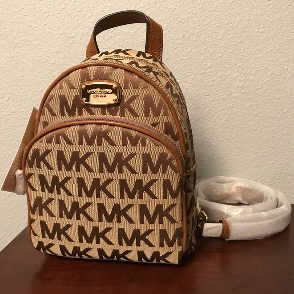 c0b5020101 Michael Kors Abbey XS canvas leather backpack
