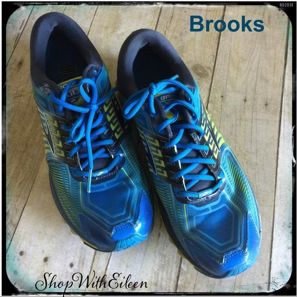 a4e415a759c69 Brooks Other - BROOKS G13 GLYCERIN Blue Lime Men s Tennis Shoe