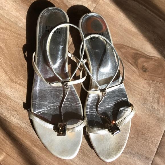 ea77538a487e Stuart Weitzman sandals with Swarovski crystals