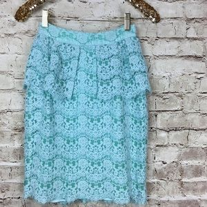 💓HP💓 🍉Aryn K Lace Peplum Pencil Skirt, NWT