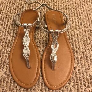 Silver shimmery sandals