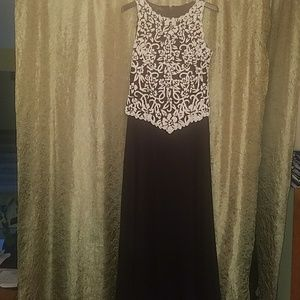 Beaded Floral long gown sz 8