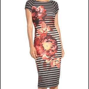dde03f6c20 ECI Print Scuba Sheath Dress