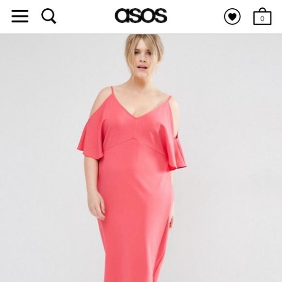 Asos Curve Dresses Pink Plus Size Dress Poshmark