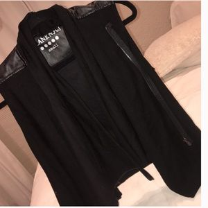 Blank NYC leather jacket vest