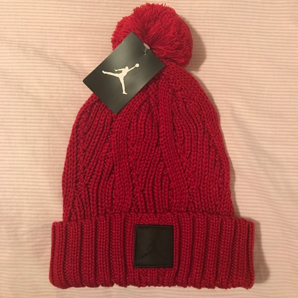 f37cd0c5 Nike Accessories | Jordan Red Winter Hat | Poshmark