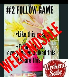 🔔🚨Weekend Sale!💲FOLLOW GAME #2 🌹