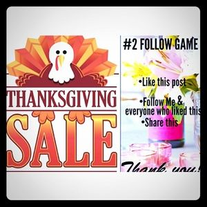 Other - 🔔🦃Thanksgiving Sale!  & #2 FOLLOW GAME
