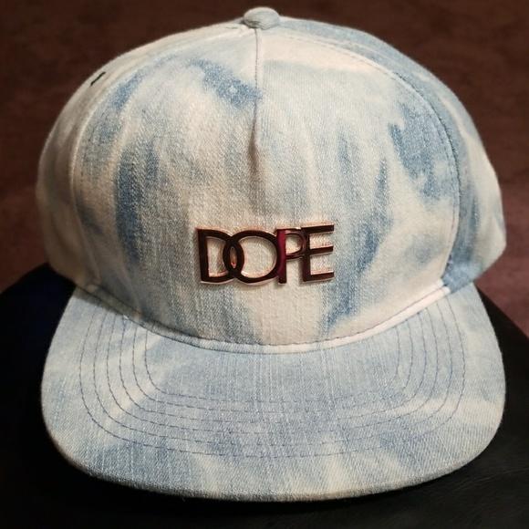 fd55d158647 DOPE denim acid wash snapback