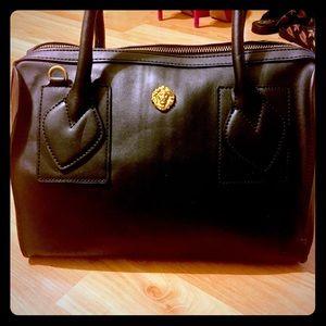 Handbags - Lion Noir leather Boston Satchel by Anne Klein