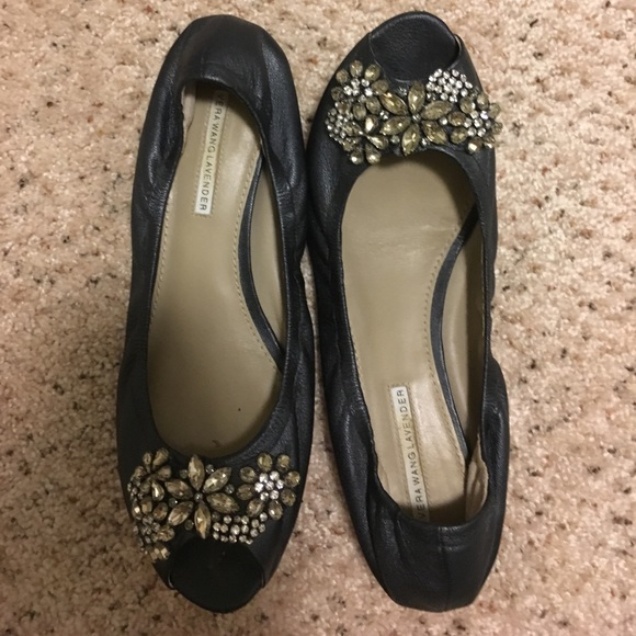 free shipping pay with visa Vera Wang Lavender Label Embellished Metallic Flats sale online from china low shipping fee shop offer cheap online ocPrG