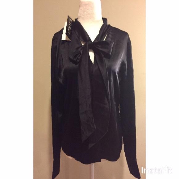 9090fd1361d76f NWT Vintage Linda Allard Ellen Tracy Silk Blouse