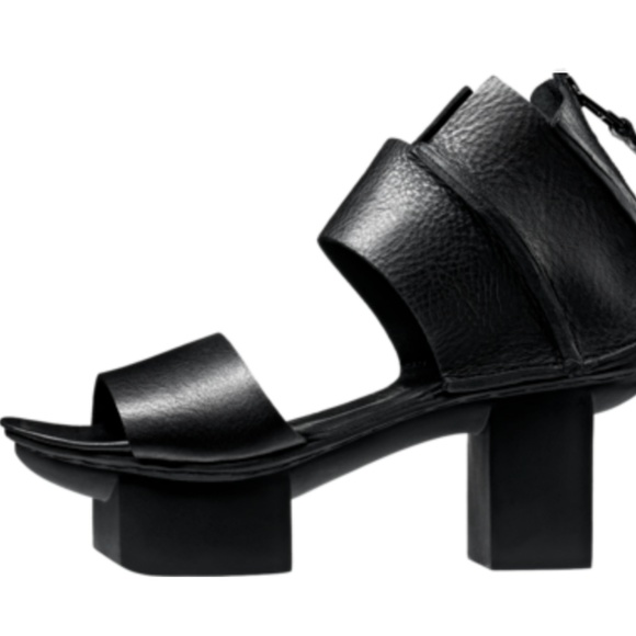 52eb226476d4 ... Happy Sandals in Black Leather. M 59cc4846ea3f36712600472d
