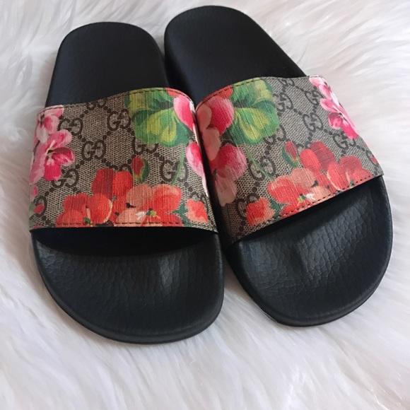 Authentic Gucci Pursuit Slide Sandals