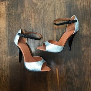 Rebecca Minkoff ankle strap heels shoes size 5.5