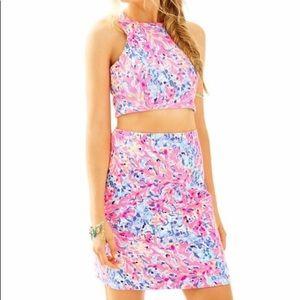 Lilly Pulitzer Mallika Crop Top & Skirt Set NWT