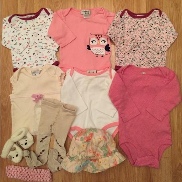 Mixed Items & Lots Baby Girls Shorts Top Bundle