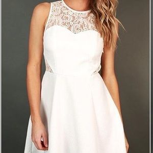 Dresses & Skirts - Boutique White dress with lace cutouts