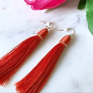 Jewelry - 🎁2 for $24! 🎉HP🎉 Burnt Orange Tassel Earrings