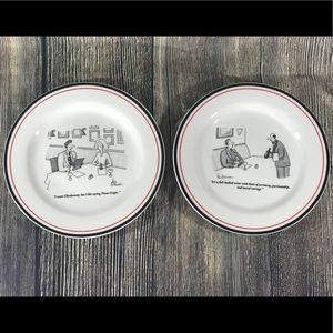 The New Yorker Accessories - New Yorker Cheese Plate Set 6 Cartoon Dessert & The New Yorker Accessories | New Yorker Cheese Plate Set 6 Cartoon ...