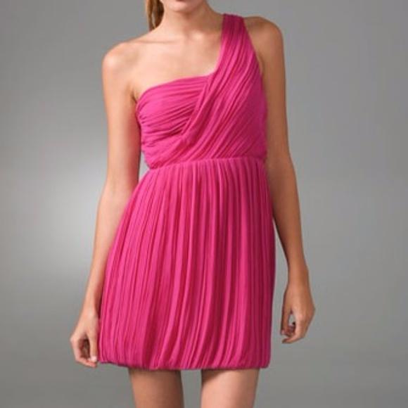Theory Womens Taliana One-Shoulder Pliss/é Silk Dress