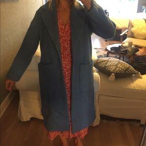 Blue cocoon jacket size XS- Mango