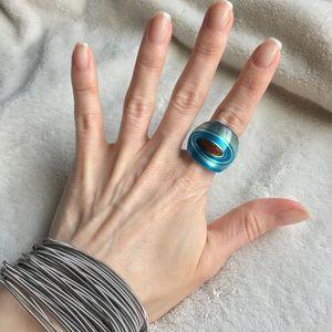 RoseBisou5   5PinkKisses Jewelry - 💋HP! Gypsy Boho Swirl Marbled Resin Ring