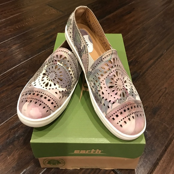Tangelo Leather Perforated Slipon