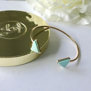 Triangle Turquoise Marble Gold Bracelet Jewelry