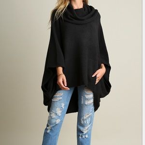 NWT cowl neck sweater poncho