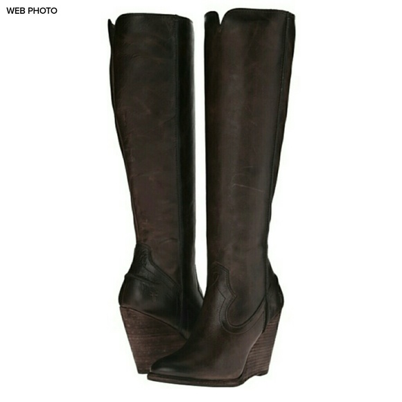 c3eda6525d5 Frye Shoes - NWT FRYE Cece Seam Tall Leather Boot